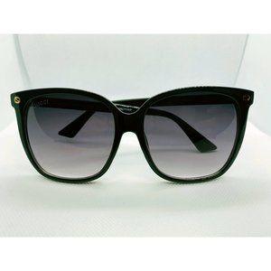 Gucci GG0022S 001 Black 57 mm Sunglasses MINT COND